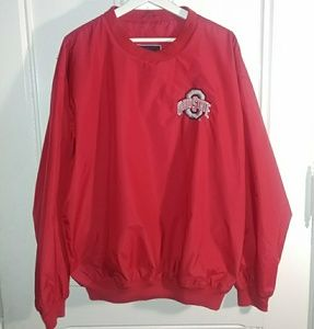 Other - Red Ohio State University windbreaker pullover